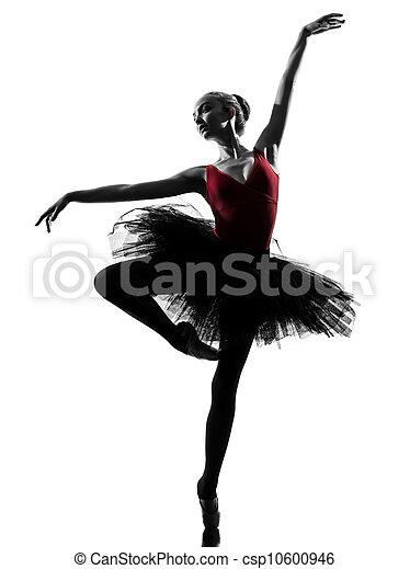 young woman ballerina ballet dancer dancing - csp10600946