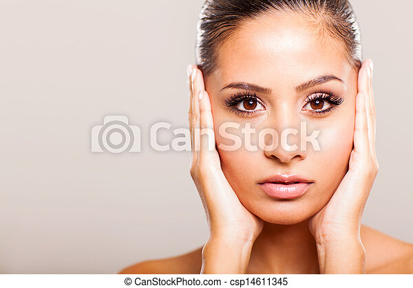 young woman beauty face - csp14611345