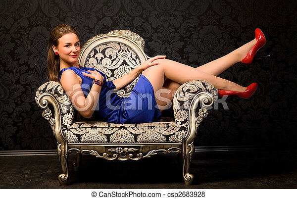 Young woman in a chair - csp2683928