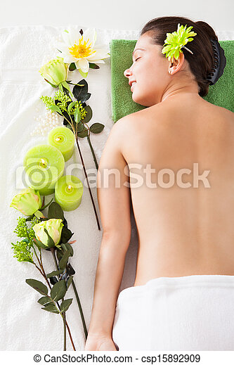 Young Woman In A Spa - csp15892909