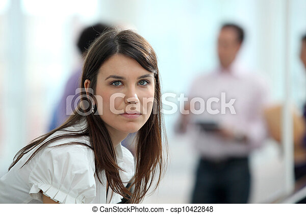 Young woman in an office environment - csp10422848