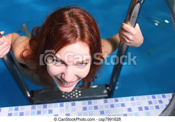 Young Woman In Basin - csp7991628