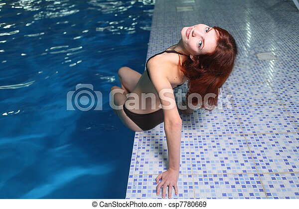 Young Woman In Basin - csp7780669