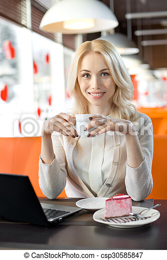 young woman in Cafe - csp30585847