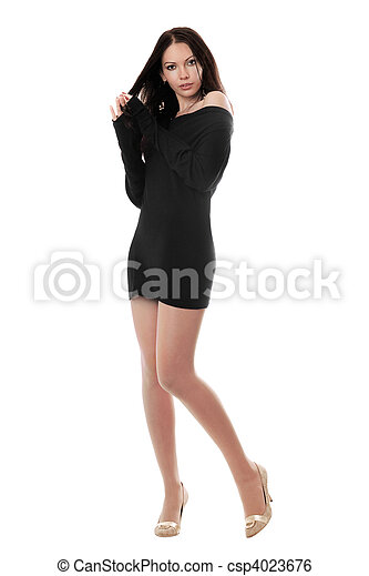 Young woman in dress - csp4023676