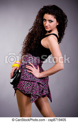young woman in dress - csp8719405