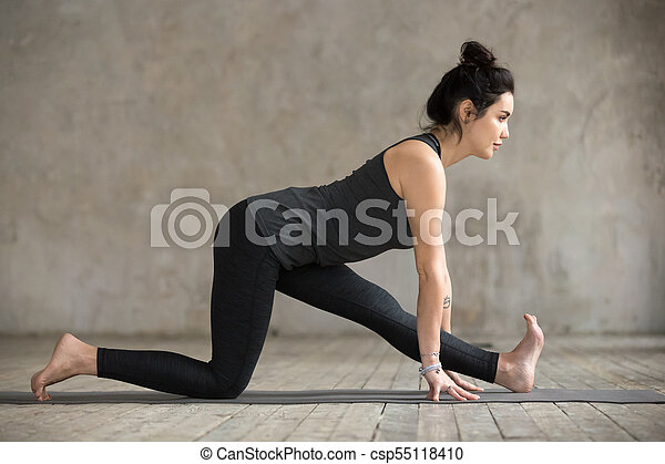 young woman in half splits pose young sporty woman