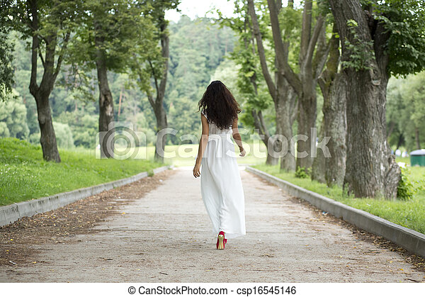 Young woman in summer dress - csp16545146