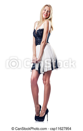 Young woman isolated on white - csp11627954