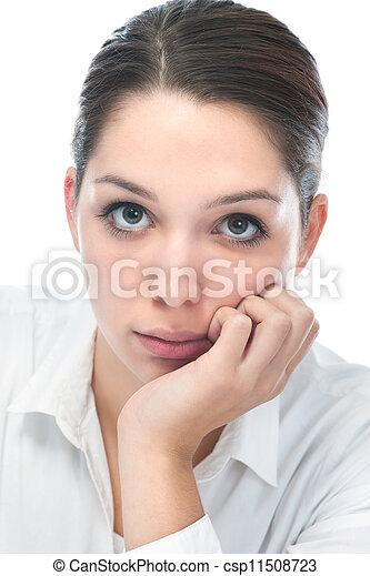 young woman looking at camera - csp11508723