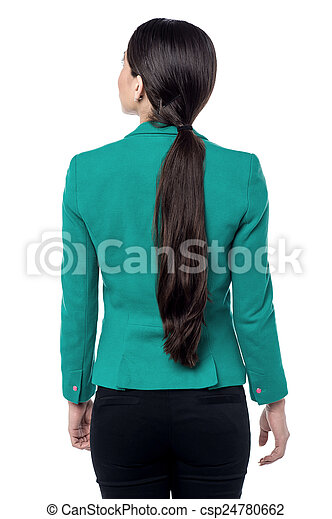 Young woman looking copyspace - csp24780662