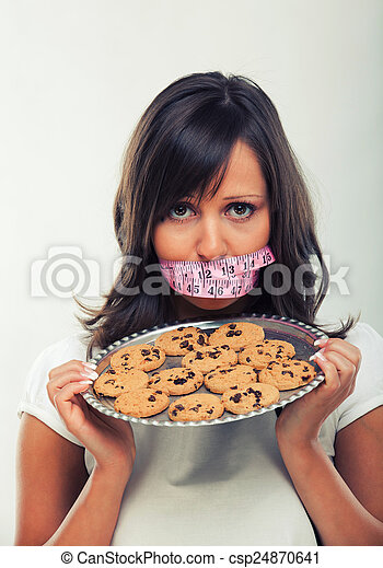 Young woman on a diet - csp24870641