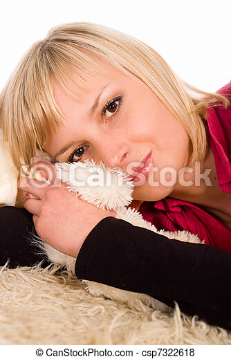 young woman on the floor - csp7322618