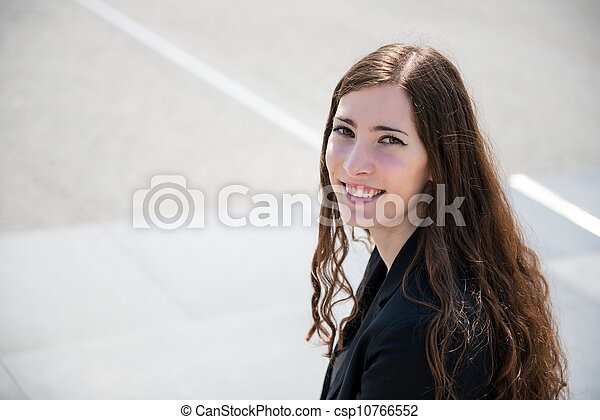 Young woman - outdoor portrait - csp10766552