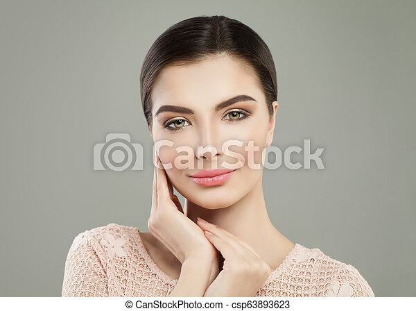 Young woman smiling. Beautiful woman portrait - csp63893623