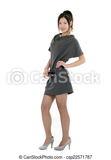 young woman standing - csp22571787