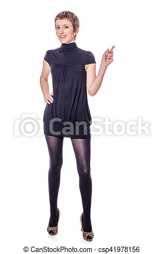 young woman standing - csp41978156