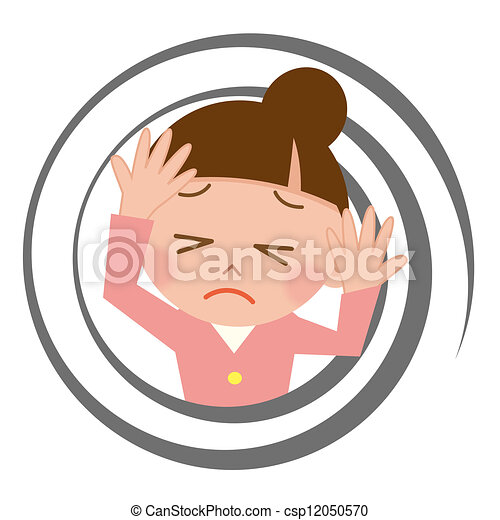 Young woman who feels dizzy - csp12050570