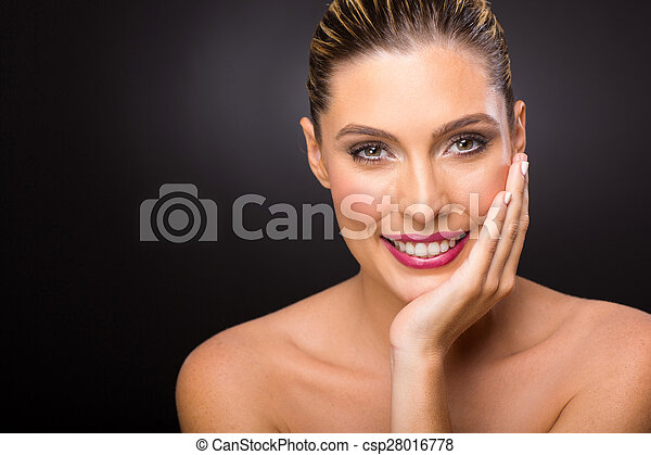 young woman with beautiful skin - csp28016778