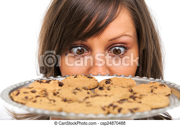 Young woman with homemade cookies - csp24870488