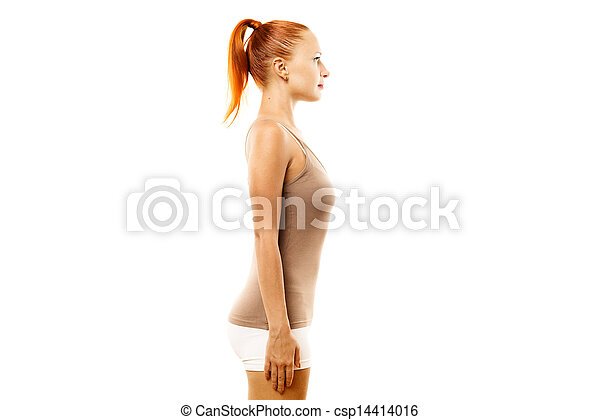 Young woman with ideal bearing - csp14414016