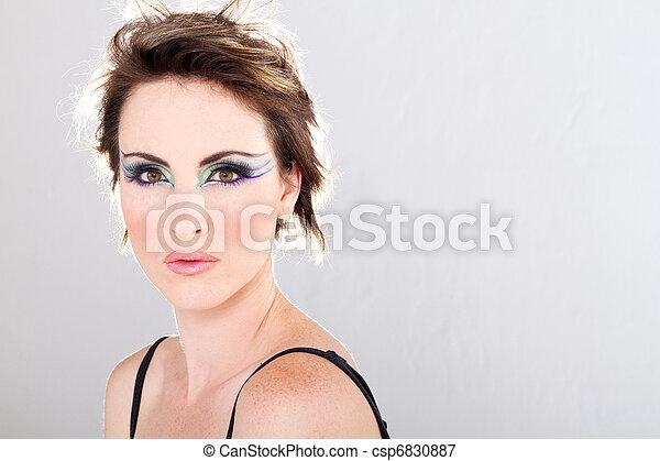 young woman with makeup - csp6830887