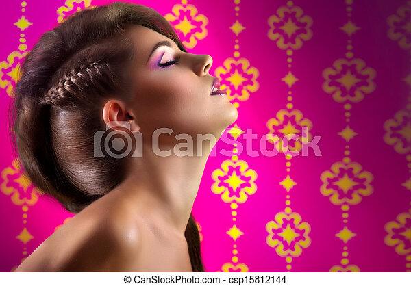 young woman with makeup - csp15812144