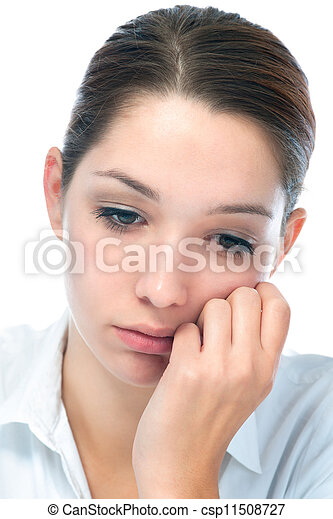 young woman with sad expression - csp11508727
