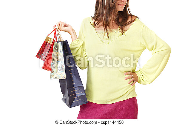 Young woman with shopping - csp1144458