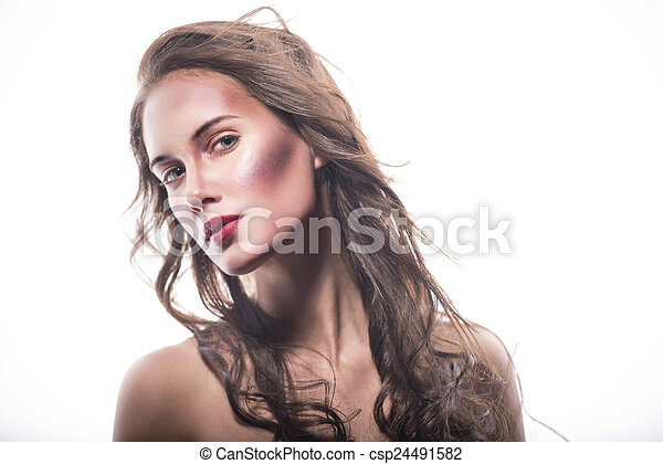Young Woman With Windswept Hair A Picture Of A Beautiful Young Brown Lady She Has Long Hair That Reaches To Her Chest She