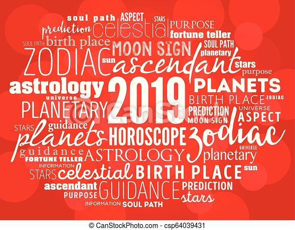 Your 2019 HOROSCOPE word cloud collage