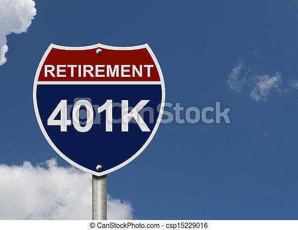 Your 40k1 Retirement Fund - csp15229016
