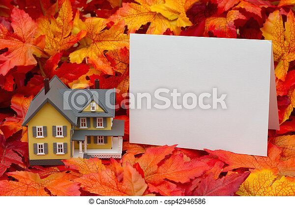 Your home in the fall season - csp42946586