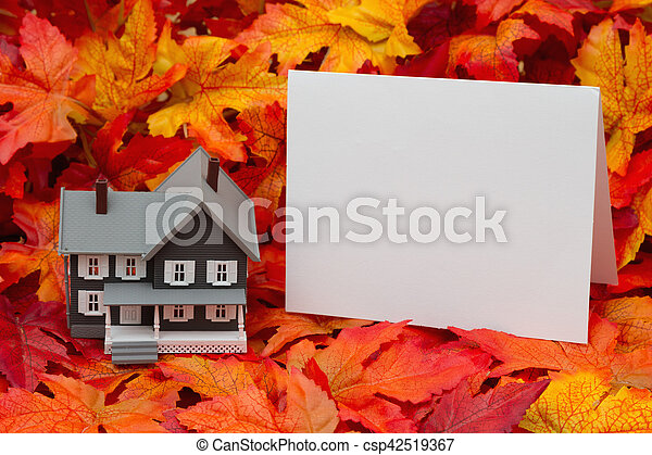 Your home in the fall season - csp42519367