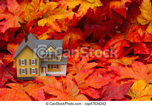 Your home in the fall season - csp47634242