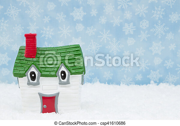 Your house in the winter season - csp41610686