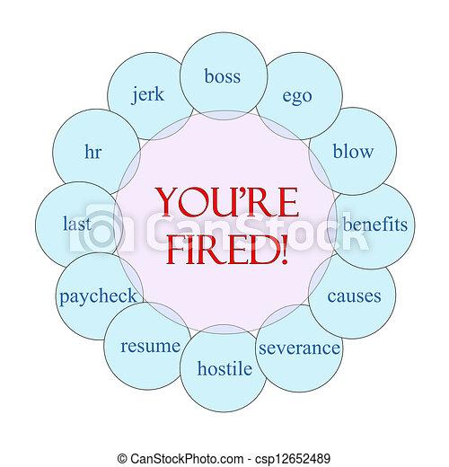 You're Fired Circular Word Concept - csp12652489