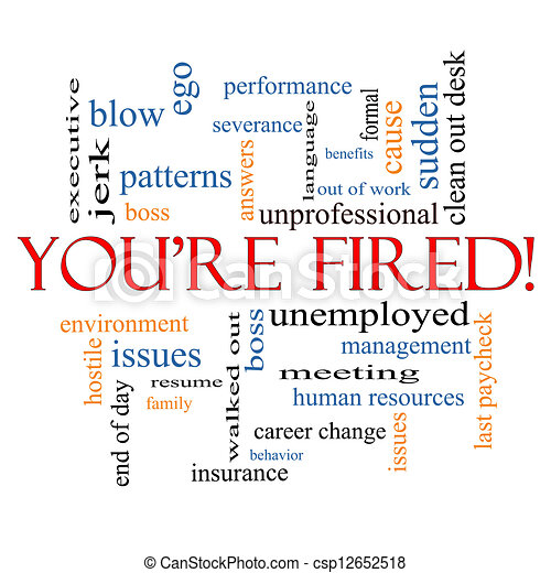 You're Fired Word Cloud Concept - csp12652518