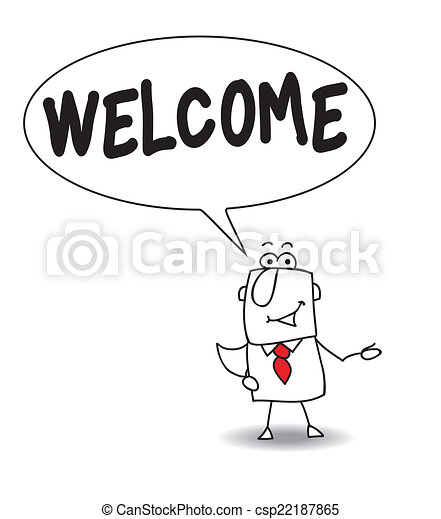 you re welcome joe the businessman says welcome clip art vector rh canstockphoto com your welcome clip art images your welcome clip art funny