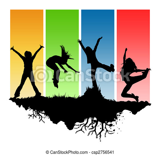 black silhouettes youth on a different background clipart search rh canstockphoto com youth clipart in church youth clipart logo
