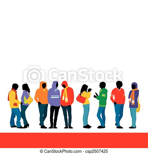 youth fashion 1 composition with nine figures three female rh canstockphoto com youth clip art images youth clipart logo