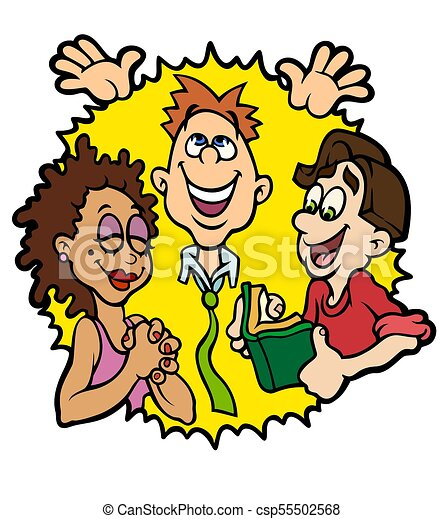 youth ministry depiction man teaching two young people stock rh canstockphoto com Youth Ministry Backgrounds free christian youth ministry clipart