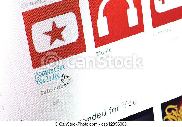 youtube, página principal - csp12856003