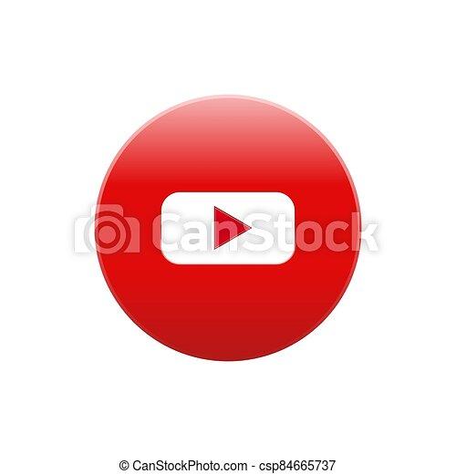 Youtube vector icon color website mobile app - csp84665737