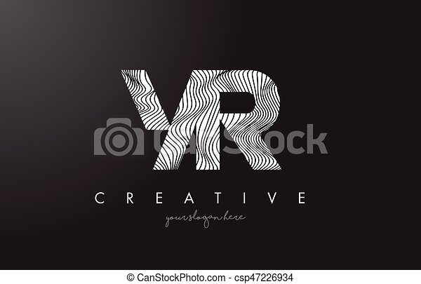 Drawing Lines In R : Yr y r letter logo with zebra lines texture design vector