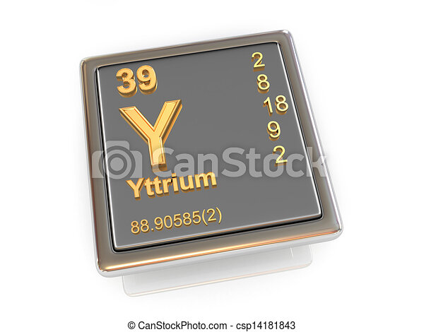 Yttrium Chemical Element 3d Drawing Search Clip Art
