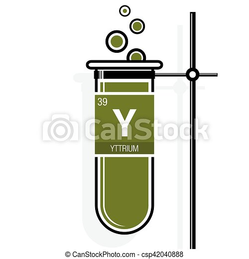 Yttrium symbol on label in a green test tube with holder vector periodic table of vector yttrium symbol on label in a green test tube with holder element number 39 of urtaz Choice Image