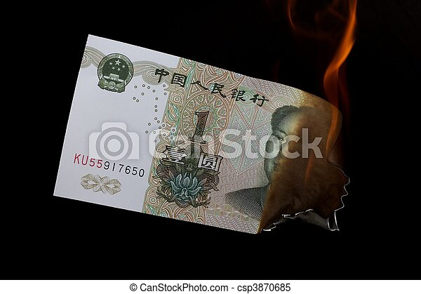 Yuan on black and fire - csp3870685