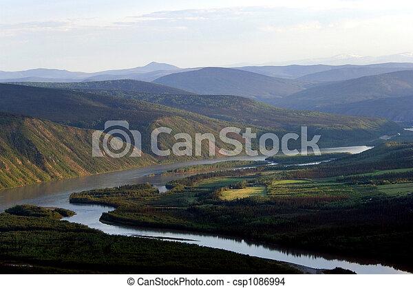 Yucon river - csp1086994