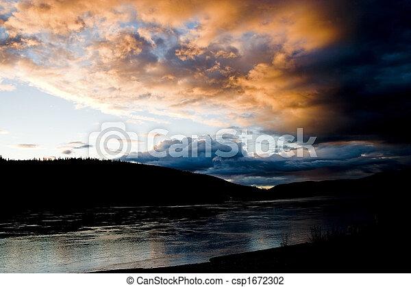 Yukon River at Dusk - csp1672302